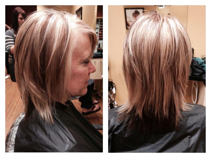blonde with mocha lowlights mocha brown underneath