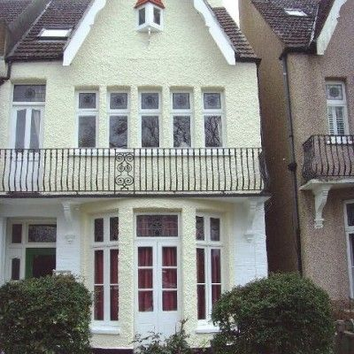 Attractive A London House Painted With Exterior Wall Coatings Nice Look