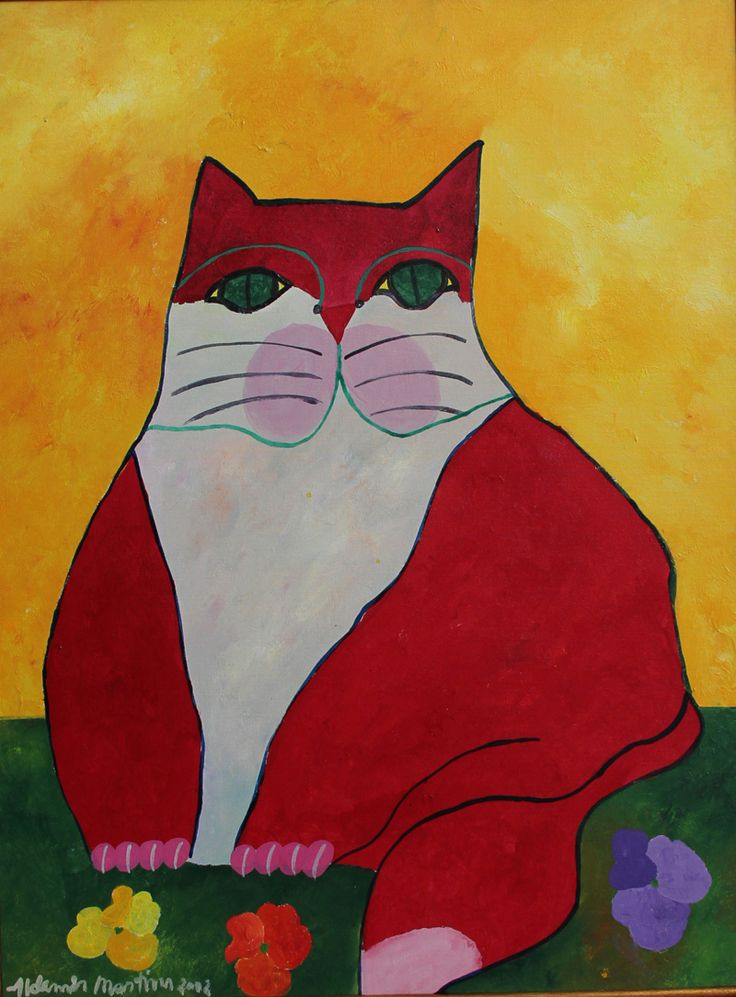 Aldemir Martins (Brazilian, 1922-2006) - Cat, 2002