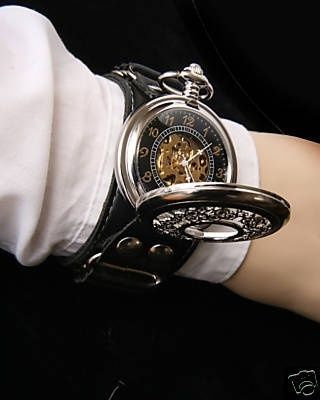 Steampunk watch | Raddest Men's Fashion Looks On The Internet: http://www.raddestlooks.org