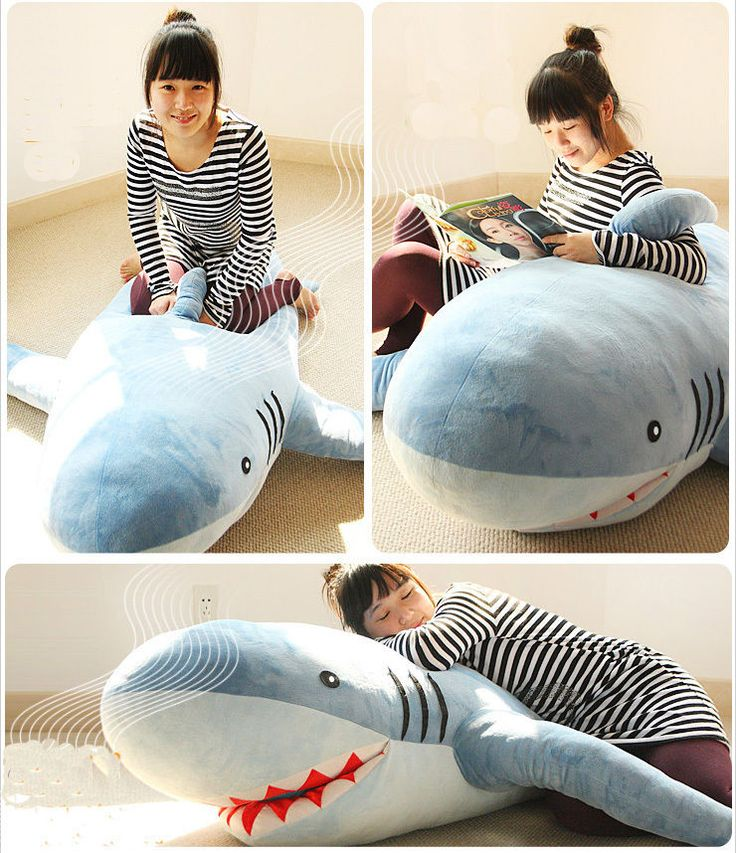 "71""(1.8M) GIANT HUGE SHARK STUFFED ANIMAL PLUSH SOFT TOY PILLOW SOFA CUTE GIFT"