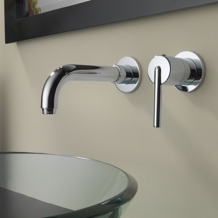 delta trinsic single handle wall mount bathroom faucet amp reviews kitchen flexible sink
