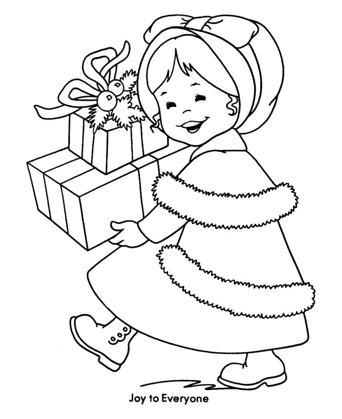 Christmas Children Coloring Pages