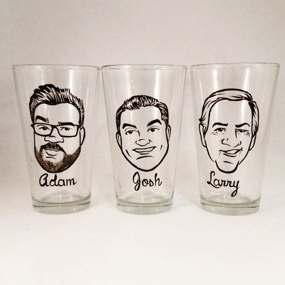 """Grooms, have you been looking for a cool groomsmen gift but just can't seem to find what you're looking for? Then click that photo and check out our Original Vintage Style Caricature Glasses by Crystal Peace Studio. And yes, most of the time we can even fulfill those last minute orders with these cool gifts! Visit us and see why these are called """"The Best Gift Ever!"""""""