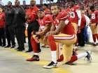 Are The Kneelers Protesting America? Just Ask Kaepernick  -  September 29, 2017:    SANTA CLARA, CA - SEPTEMBER 12: Colin Kaepernick #7 and Eric Reid #35 of the San Francisco 49ers kneel in protest during the national anthem prior to playing the Los Angeles Rams in their NFL game at Levi's Stadium on September 12, 2016 in Santa Clara, California. (Photo by Thearon W. Henderson/Getty Images)