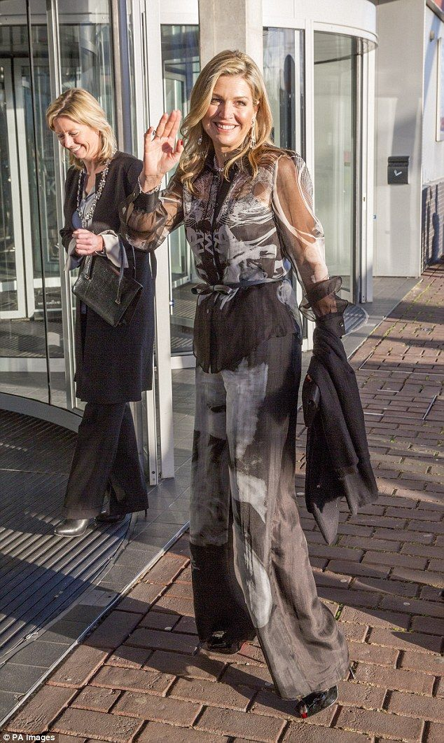 Maxima also attended the the Prince Bernhard Culture Prize ceremony at the Muziekgebouw aa...