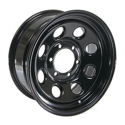 "Cragar Soft 8 Black Steel Wheels 16""x7"" 6x5.5"" BC Set of 5"
