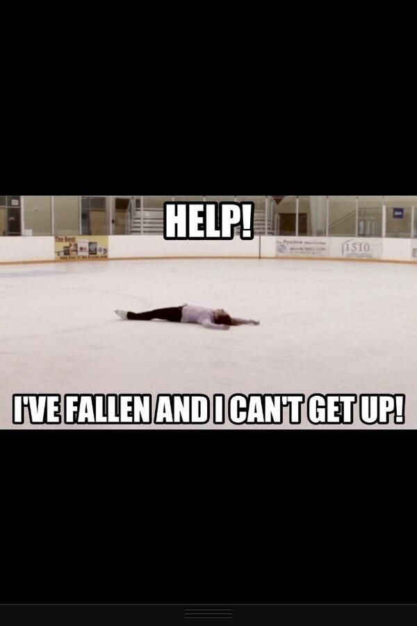 hahaha figure skating probs happens every time I fall