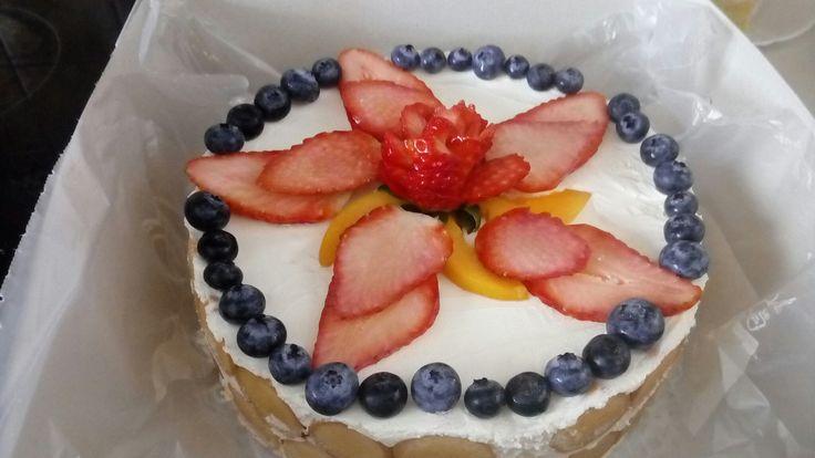 Nepečený piškotový dort
