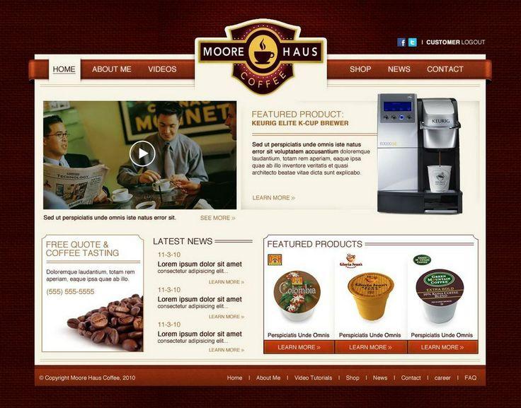 Moore Haus Coffee Website.