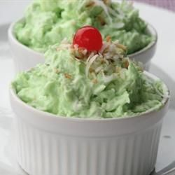 Watergate Salad - Can change pudding flavors and add coconut, maraschino cherries etc to change it up if needed.