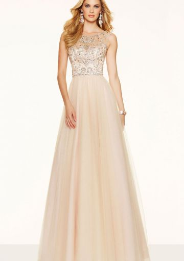 Cheap and Australia 2016 Pearl Pink A-line Scoop Neckline Beaded Organza Floor Length Evening Dress/ Prom Dresses 98061 from Dresses4Australia.com.au
