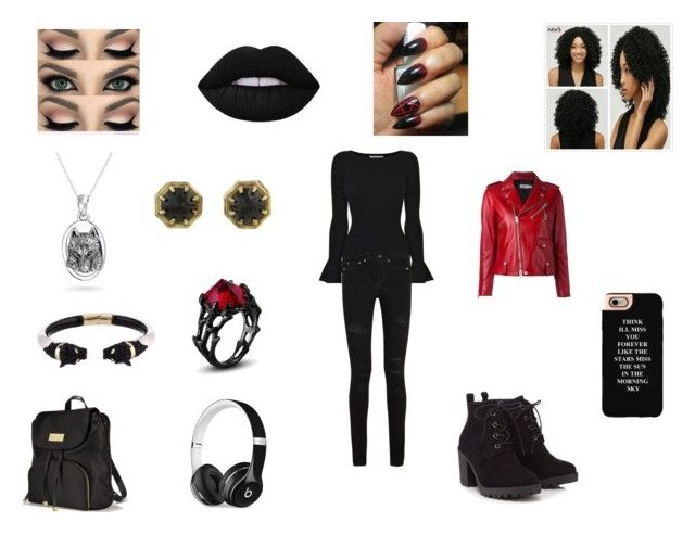 """""""After Family Business"""" by raeraesweet ❤ liked on Polyvore featuring Red Herring, Victoria's Secret, Beats by Dr. Dre, MICHAEL Michael Kors, Yves Saint Laurent, Coach, Lauren Wolf, Alexis Bittar, Bling Jewelry and Casetify"""