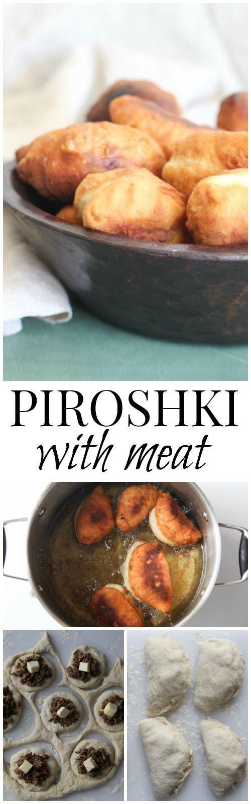 Russian Fried Piroshki with Meat. ValentinasCorner.com