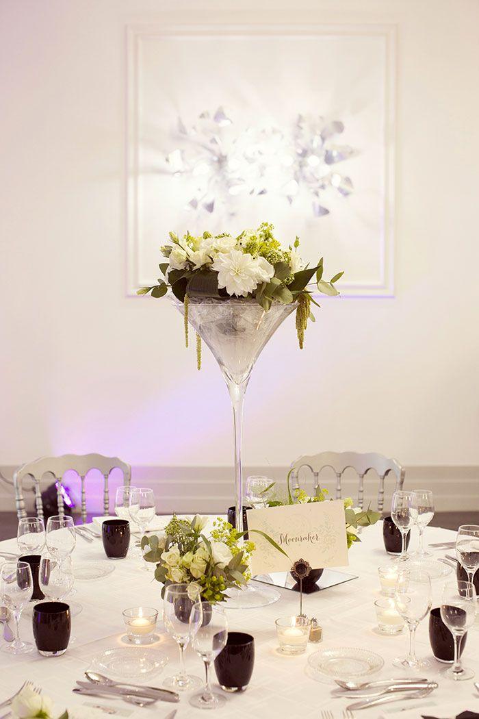 Mariage charl ne et mehdi d coration noire et blanche for Idee deco vase