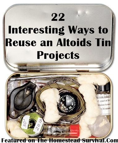 The Homestead Survival   22 Interesting Ways to Reuse an Altoids Tin Projects   http://thehomesteadsurvival.com - The Homestead Survival - DIY Project -