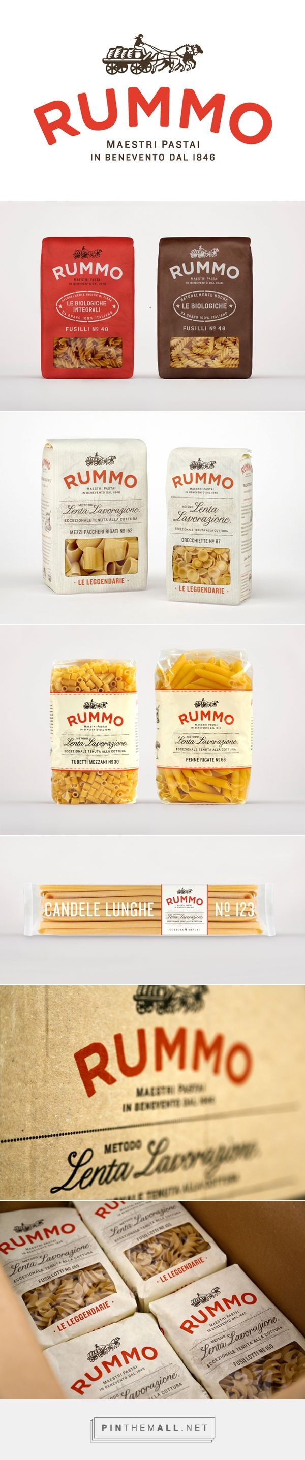 Rummo - Italian pasta packaging designArt and design inspiration from around the world – CreativeRoots