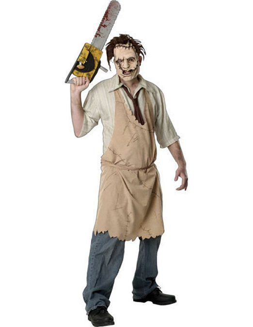Here are adult and child sized Texas Chainsaw Massacre Leatherface costumes. Are you looking for high quality Leatherface costumes and bloody chainsaws?