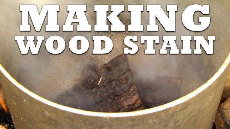 Boiling Bark To Make Wood Stain