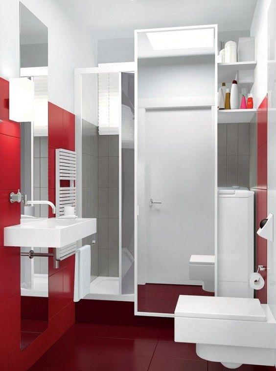 Bagno piccolo con lavatrice - Mobile con lavatrice  Cesso  Pinterest ...