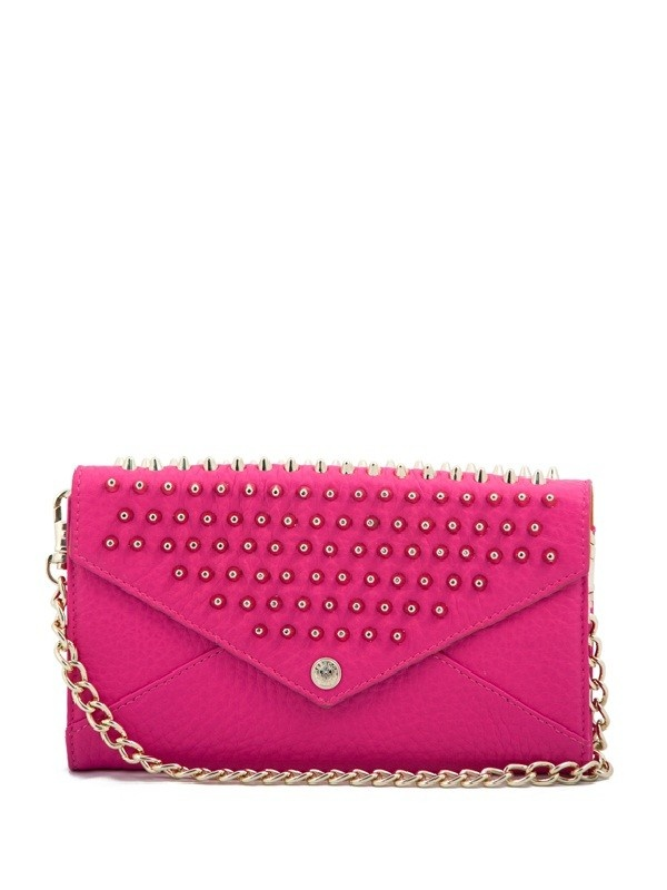 RM hot pink wallet on a chain with studs #rmobsessionBright Pink, Studs Wallets, Summer Style, Studs Purses, Pink Studs, Rebecca Minkoff, Chains, Minkoff Pur, Minkoff Studs