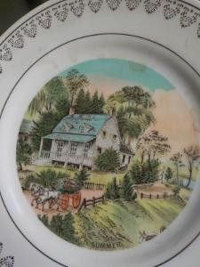 Vintage Teller - England 4 laendliche Wandteller handgemalt 1930-5  - ein Designerstück von ausBoehmensHainundFlur bei DaWanda