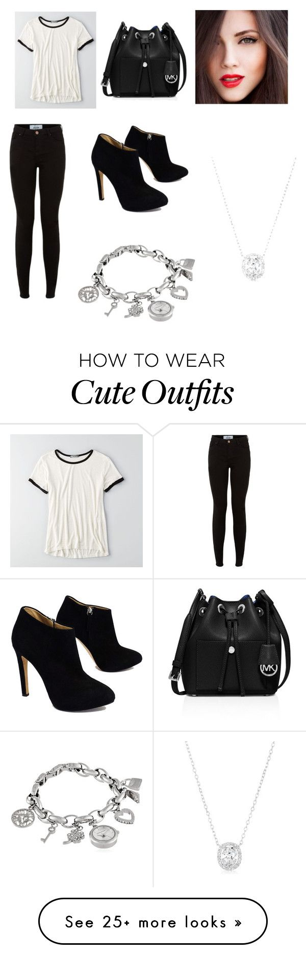 """""""Cute outfit that will look great in nyc"""" by ksbadyal-1 on Polyvore featuring American Eagle Outfitters, Giuseppe Zanotti, MICHAEL Michael Kors and Anne Klein"""