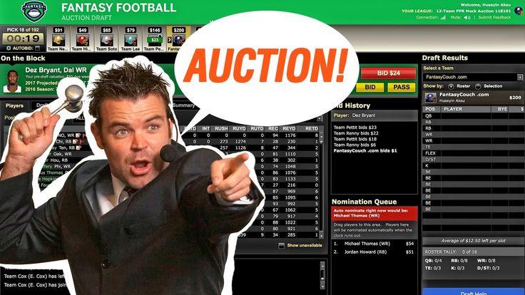 Fantasy Football Auction Mock Draft 2017 ESPN #FantasyFootball