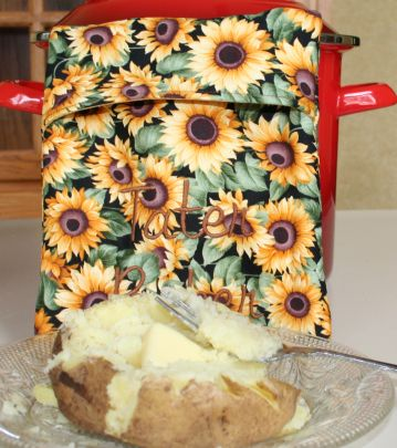 How to make a baked potato bag. I love the way they come out of the microwave!