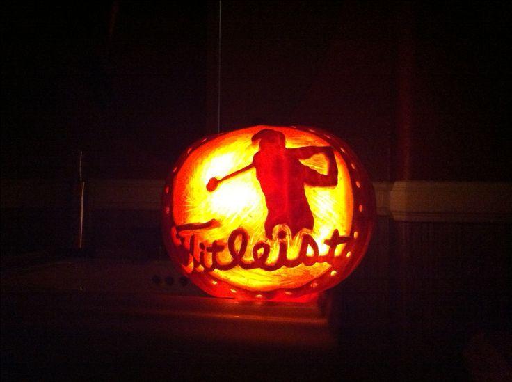 Titleist golf pumpkin for Halloween