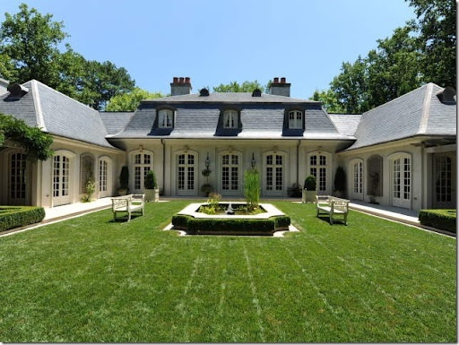 Fab i really like this style better in a single story for French style homes for sale