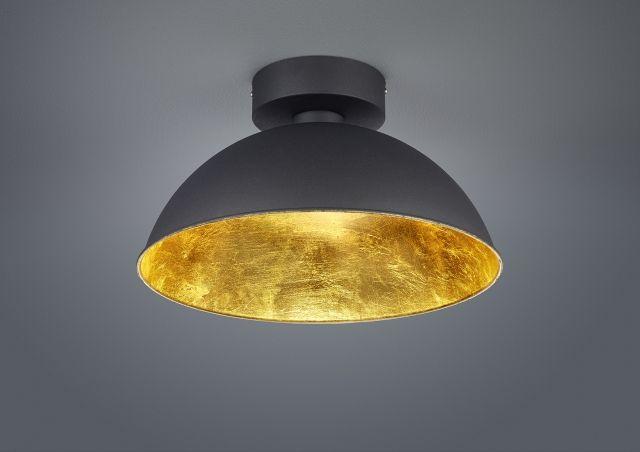 ROMINO Trio - LED stropnica - ø 400mm -  čierny kov