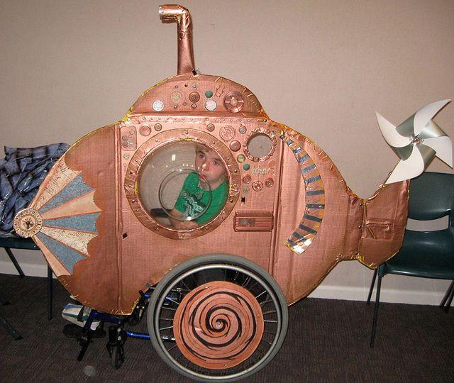 Submarine wheelchair costume