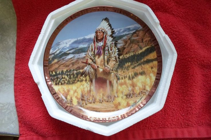 AMERICAN INDIAN HERITAGE FOUNDATION MUSEUM COLL. PL. WASHAKIE #FRANKLINMINT