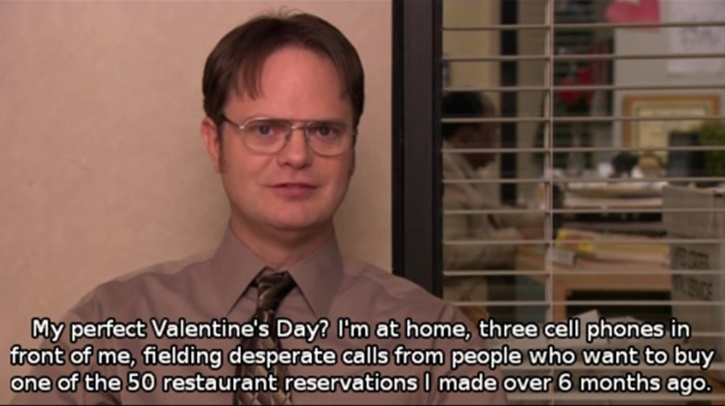 Dwight S Plans For Valentine S Day Funny Pictures Funniest Office Moments Valentines Memes