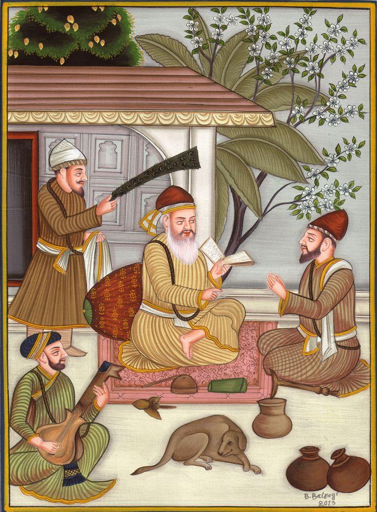 Sikh Guru Nanak Ji Artwork Handmade Sikhism First Guru Religious Punjab Painting