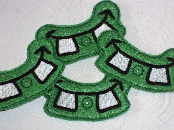 Green Monster Mouth Lollipop/ Sucker Holder by MacAndRoniDesigns