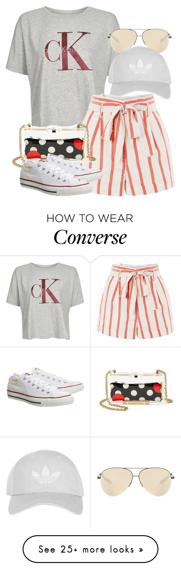 """""""Calvin Klein x Valentino"""" by muddychip-797 on Polyvore featuring Topshop, Victoria Beckham, RED Valentino, casual, valentino, vacation, CalvinKlein and fashionset"""