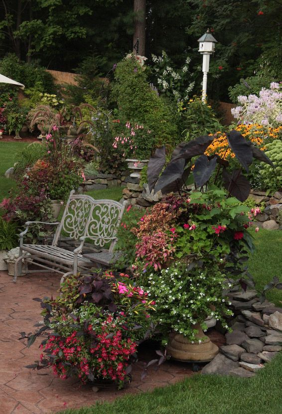 Lovely garden and sitting space ...