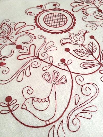 Rosalie quinlan s redwork scandinavian rose m is for