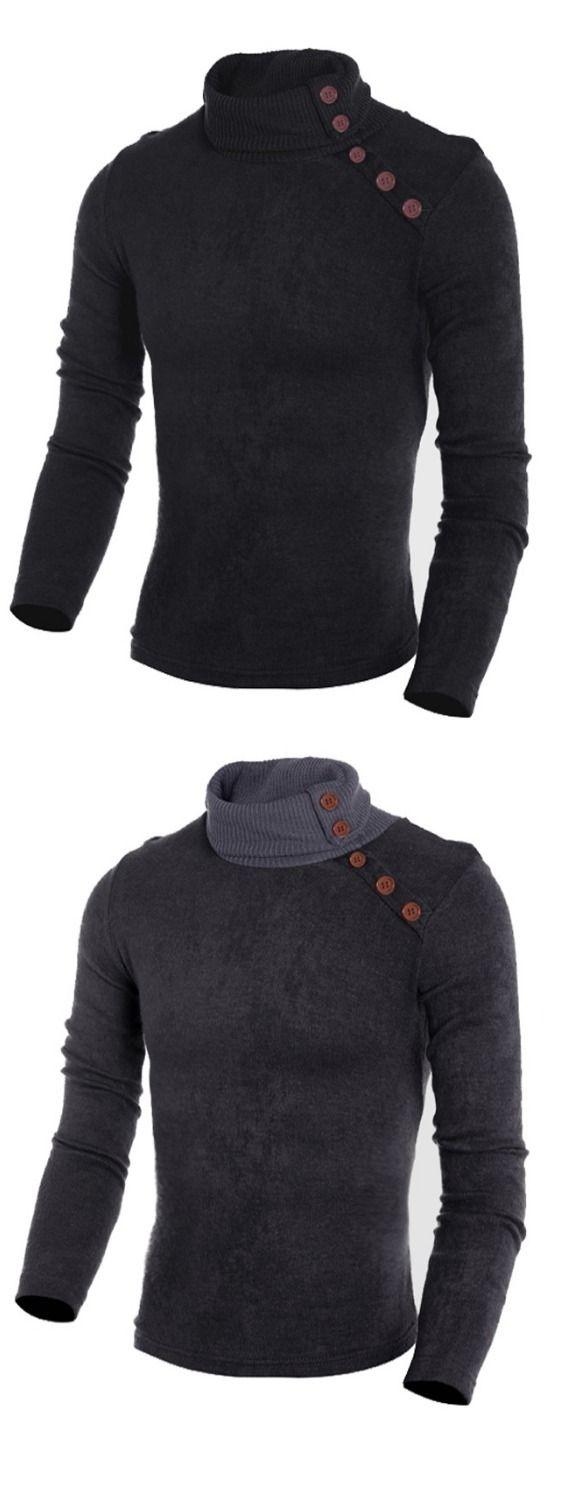 Winter Men'S Fashion Pullover Men'S Jacket Knit Turtleneck Sweater