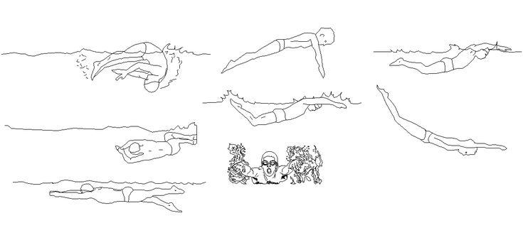 Dwg Adı : Yüzen insan çizimleri  İndirme Linki : http://www.dwgindir.com/puanli/puanli-2-boyutlu-dwgler/puanli-insan-ve-hayvanlar/yuzen-insan-cizimleri.html
