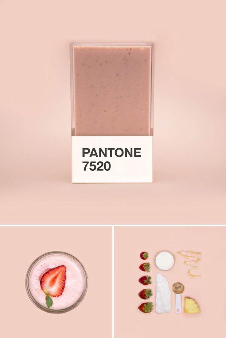 Pantone 7520C. Pantone Smoothies – Recréer les couleurs Pantone avec des fruits mixés. Couleur Pantone.