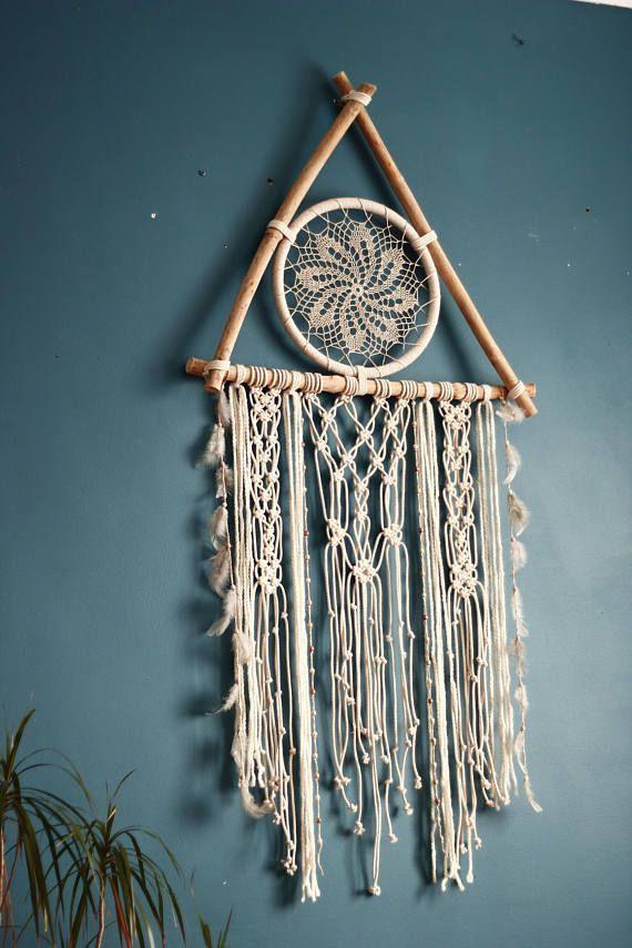 Macrame dream catcher dream catcher wall hanging crochet