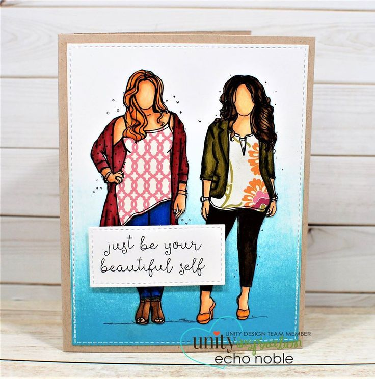 Love this ombre background? You can do it too with a little ink and a brayer!