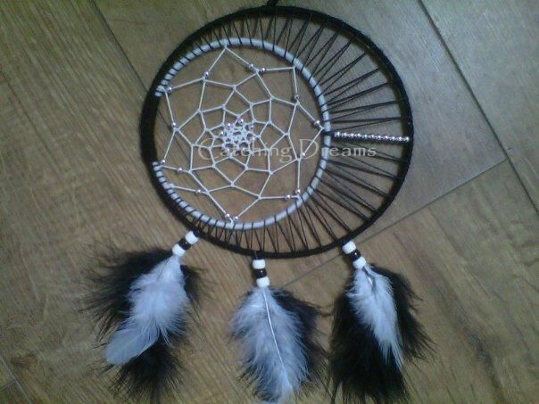 Double ringed dream catcher 7 5 rings with the for How to make a double ring dreamcatcher