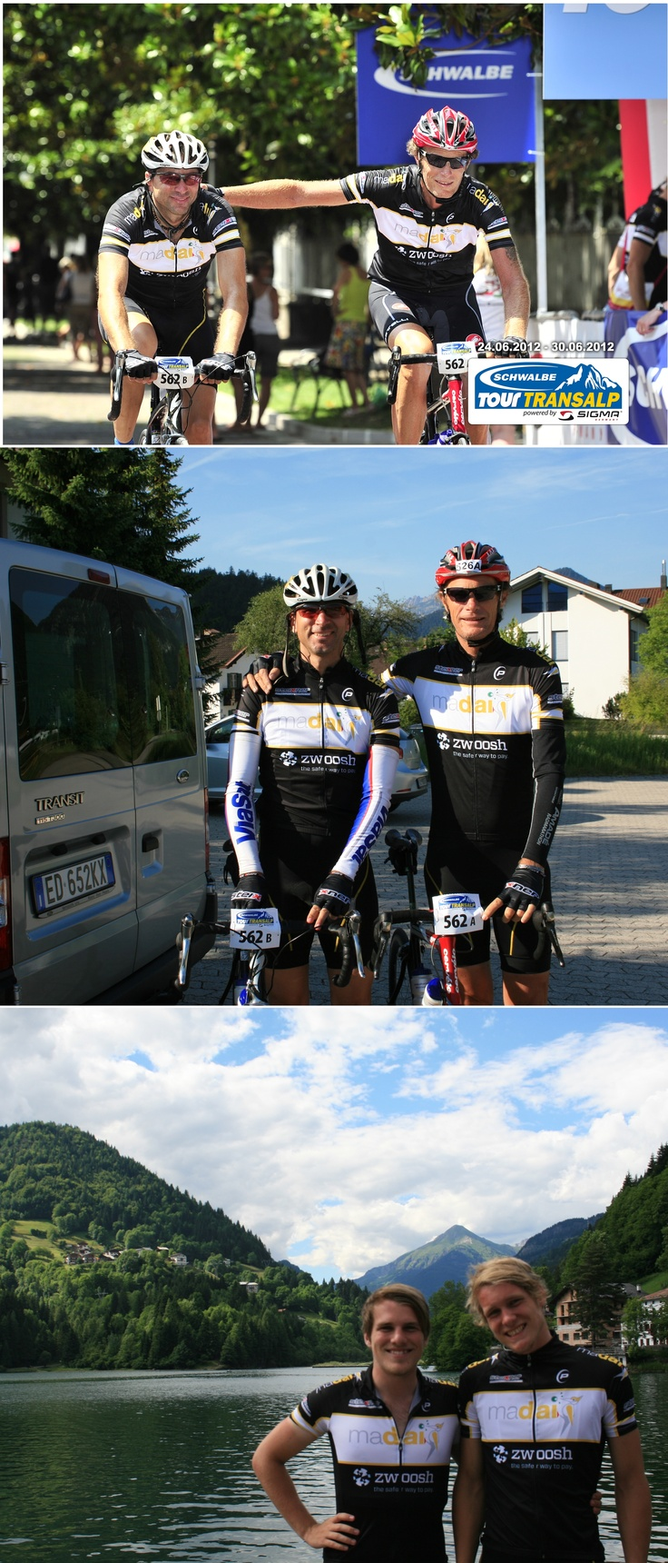 Go Madai Masters!!!     The team raced in the TransAlp Tour,  finishing in 38 hours 19 minutes! They cycled from Mittenwald in Bavaria to Arco at Lago di Garda.