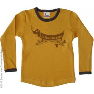 My Roots shirt Chien mosterd