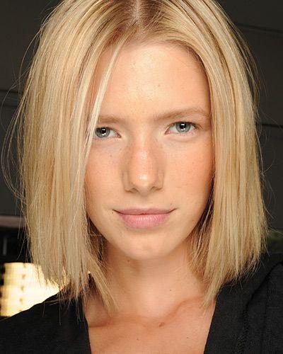 Bob Haarschnitt blonde Reife