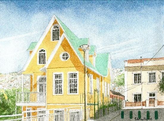 Hotelito en una colina, Valparaíso - Chile Carlos Calvimontes Rojas